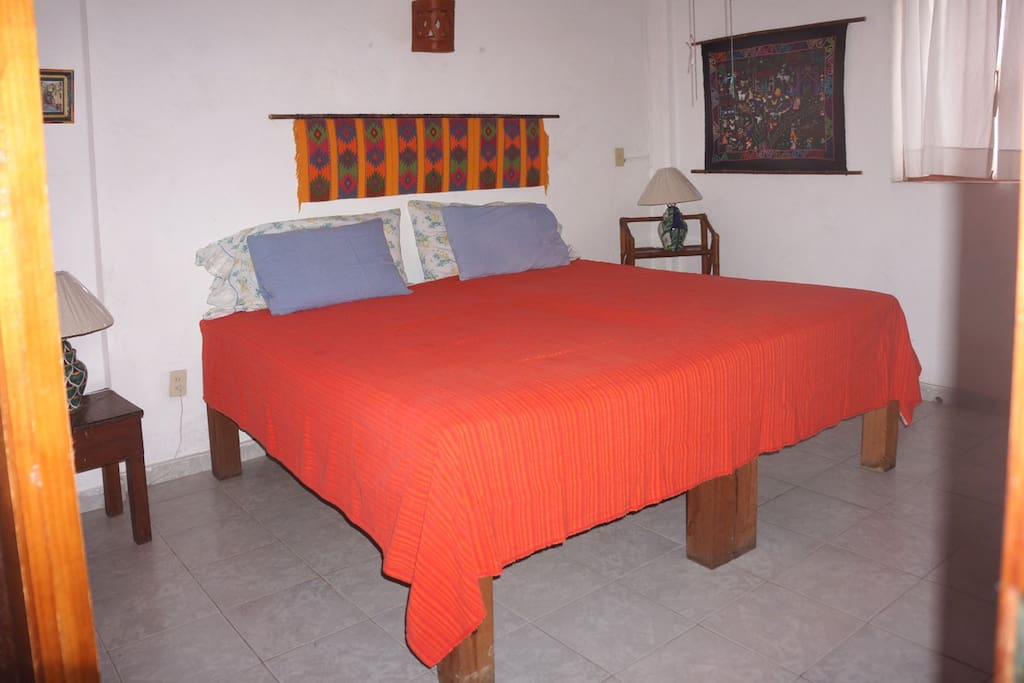 The other bedroom can be made up as a king sized bed or 2 singles