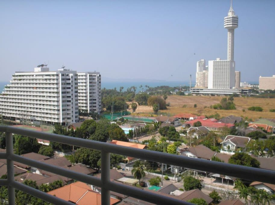 North view from 12th floor over Jomtien Beach to Koh Larn