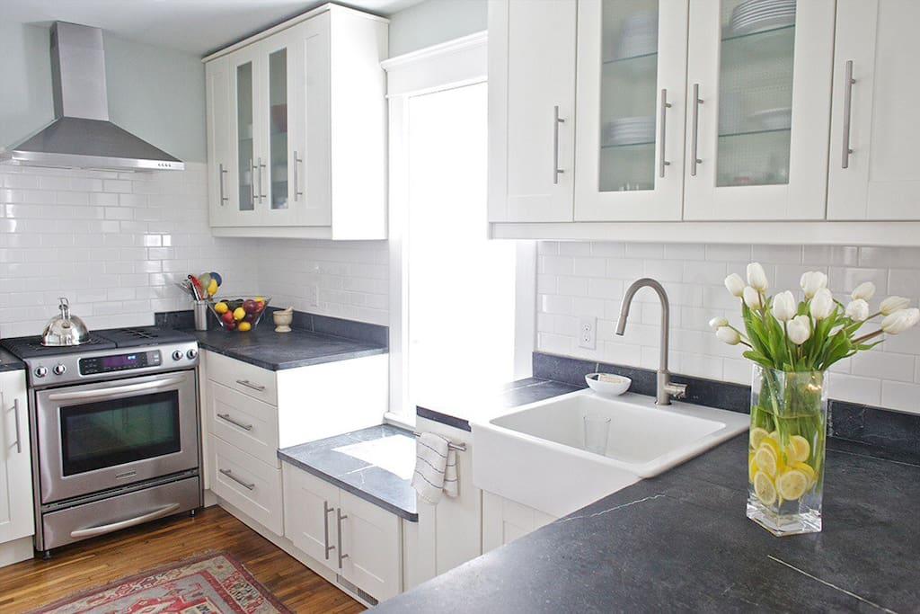 Lux, modern, bright kitchen