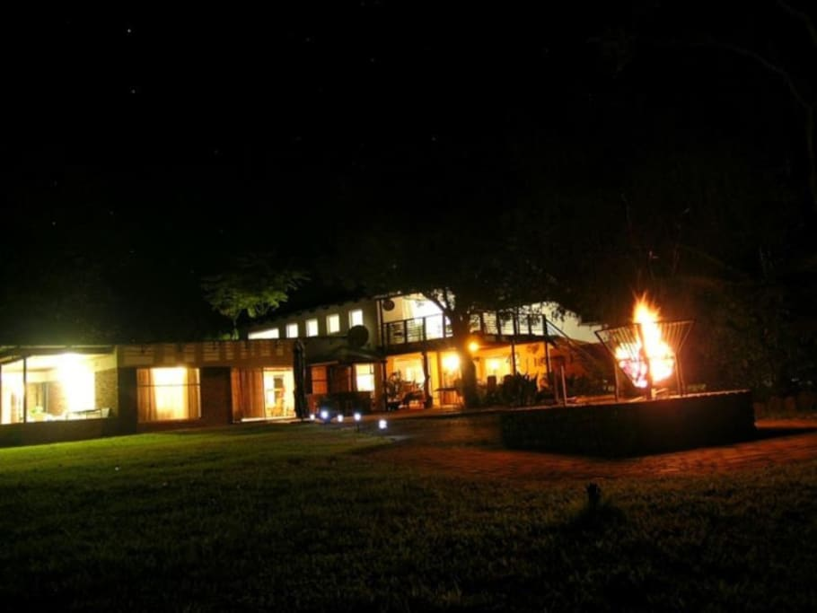 Night time at Kransvley Farm Resort