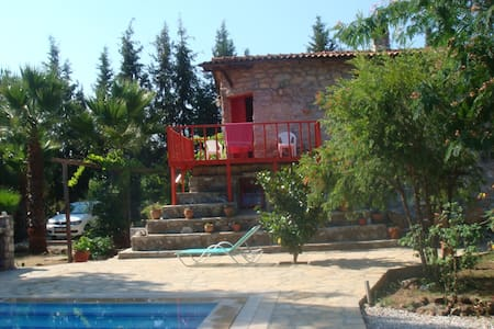 Stone house with pool in a forest - Marmaris