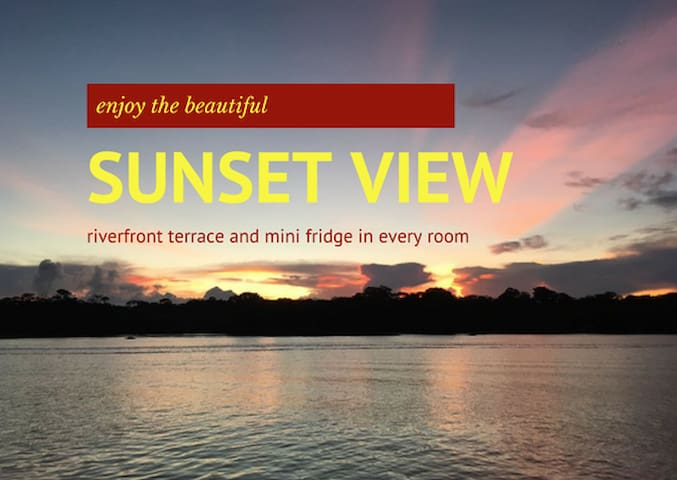 Sunset Room D - River view and garden terrace - Tortuguero - Butikový hotel