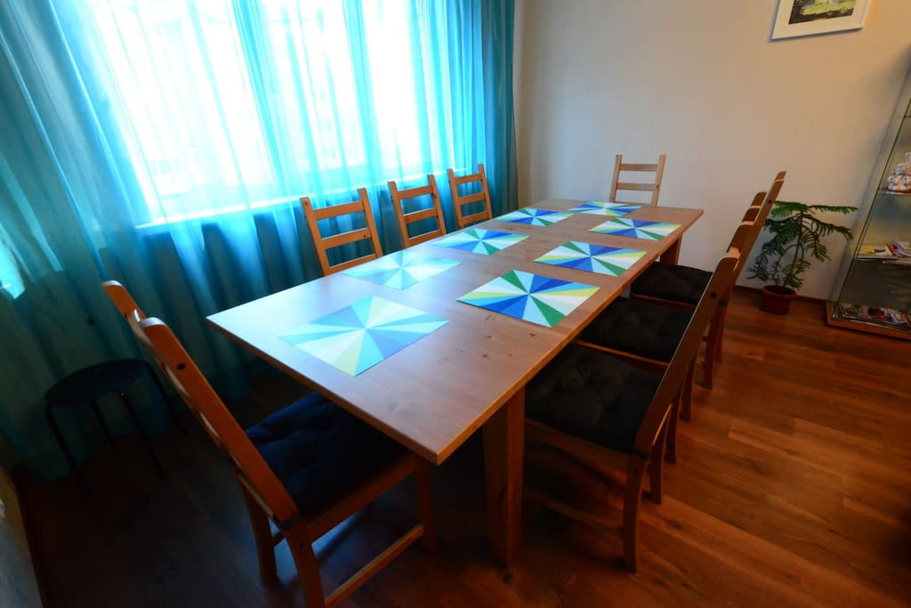 Big table in the lounge room