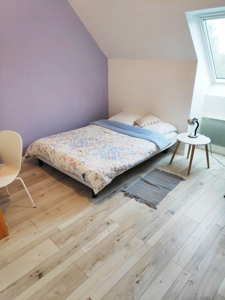 Chambre privée dans maison Nantes - Jean Moulin