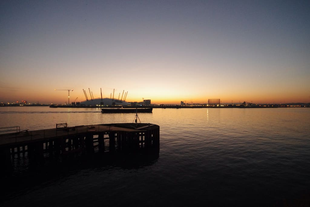 View towards Millennium Dome/O2 Arena.