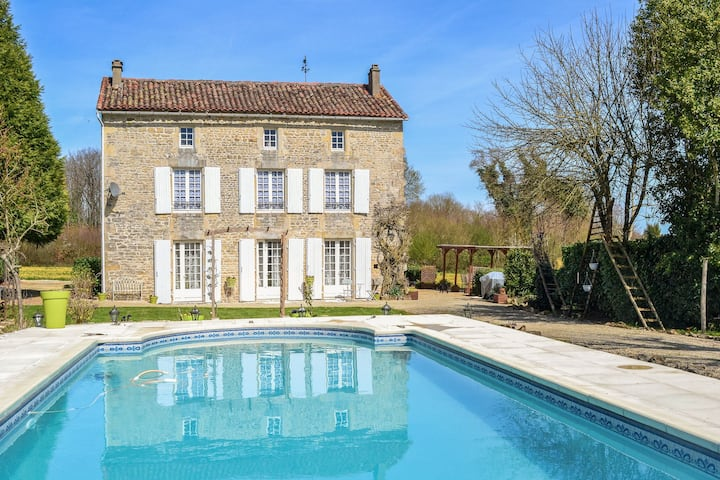 Luxury Mansion in La Forêt-de-Tessé with Swimming Pool