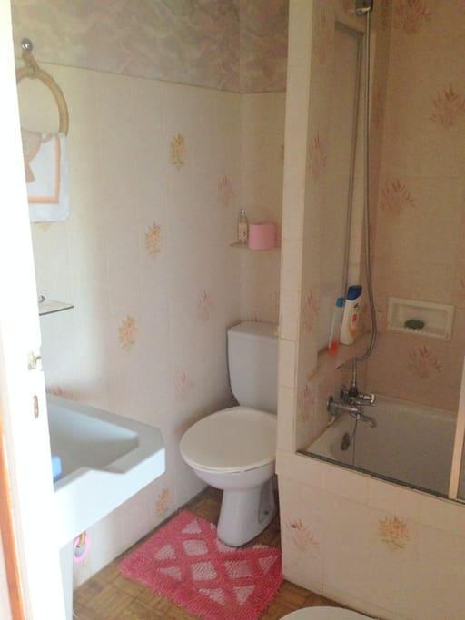 salle de bain/wc au 1 er étage à partager avec la 1ère chambre d'hôte