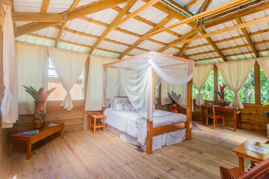Your Honeymoon Suite is open, light, and airy.