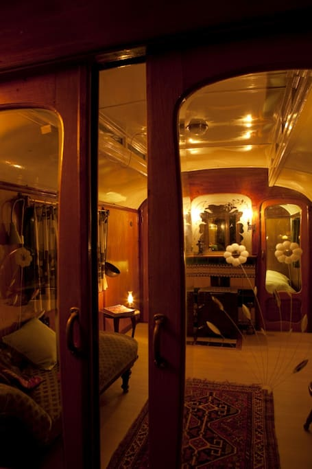 Sitting room in gypsyvan.