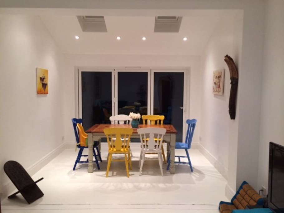 Dining area, leading on to garden with bi-fold doors