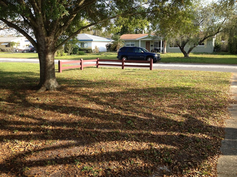 Quiet neighborhood and trees in front yard to enjoy!  Nice play to walk and bike and close to the park!