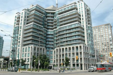 A beautiful, modern building in the lovely downtown centre. Minutes from every attraction that Toronto has to offer. The area is ideally located for any mode of transportation from bus, go train and even 20 minutes walking distance to the airport.