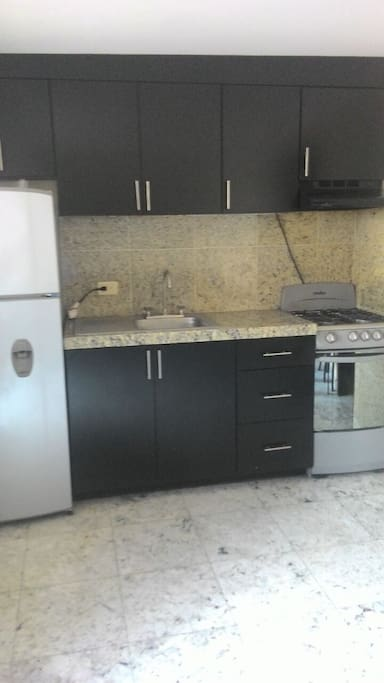 Brand new apliances with granite countertops.
