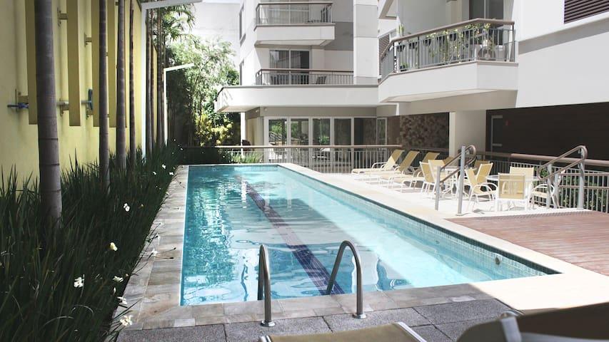 Studio Allianz Parque | AC + Garagem + Netflix