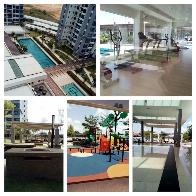 Great night view brand new apartment flats for rent in johor bahru johor malaysia Public swimming pool in johor bahru