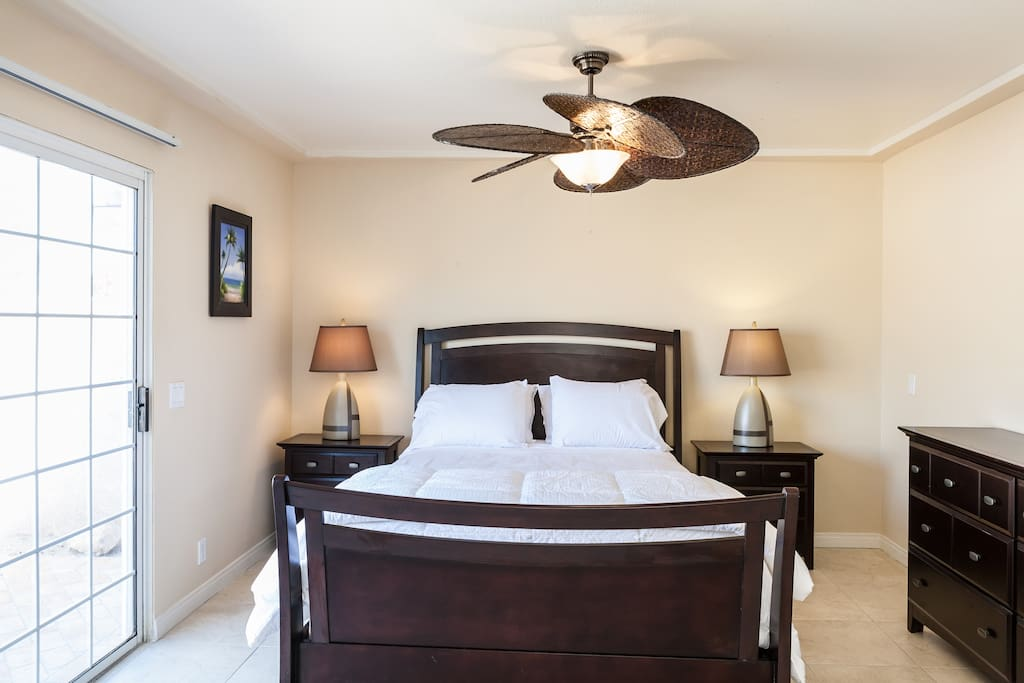 Master suite has private patio with access to private pool