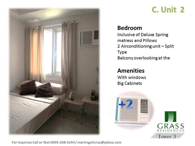 Grass Residence Condominium Units - Quezon City - Loft