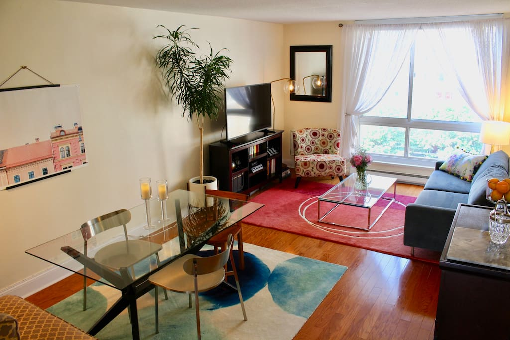 Dining and Living Room Areas
