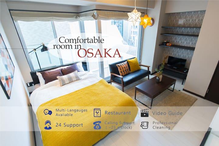 新造建筑/高雅氛围的漂亮公寓可容纳3人/大阪城・造幣局等散步可至/车站近/位置绝佳