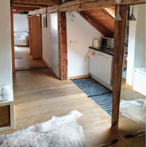 Hut flair Loft in center - all attractions on foot