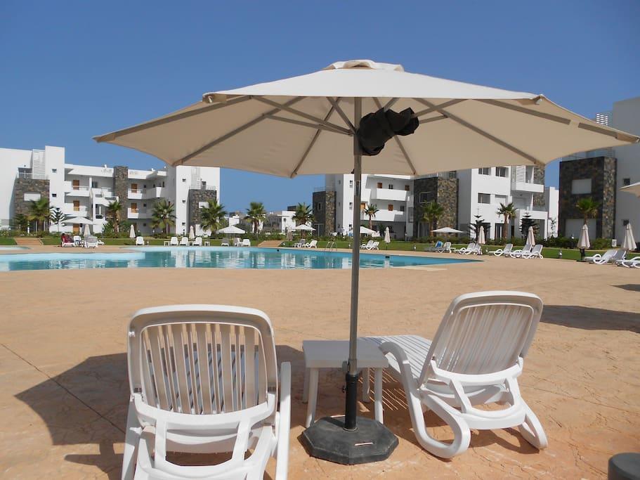 Saidia perla 5 appart rdc 1 chambre plage a 200m for Chambre 13 tahiti plage