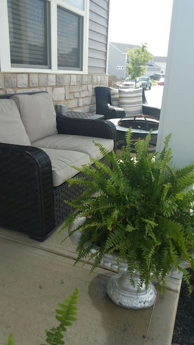 relax on the front porch patio