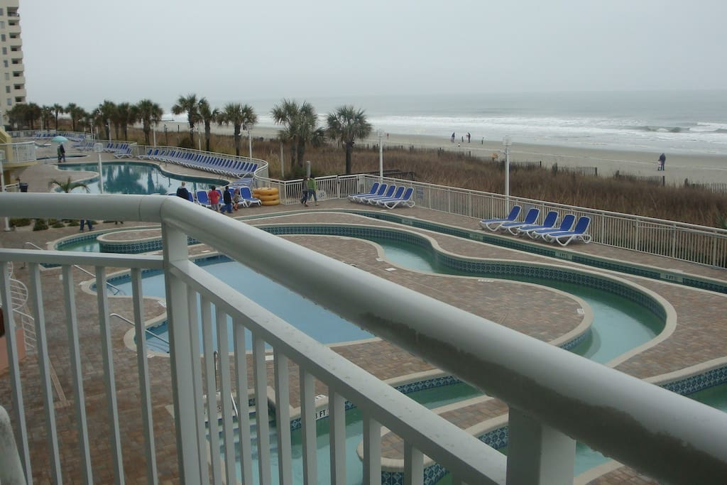 2 floor oceanfront balcony