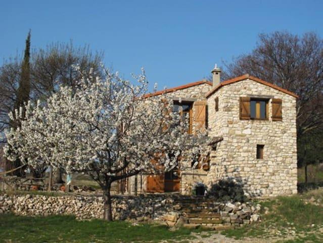 off grid, solar powered stone barn w/ spring water