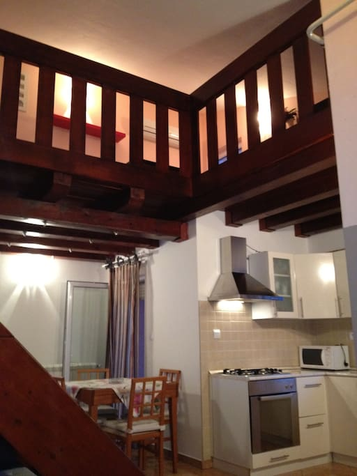 wooden mezzanine of 20 sqm