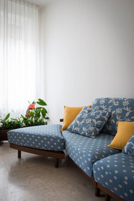 Il soggiorno.