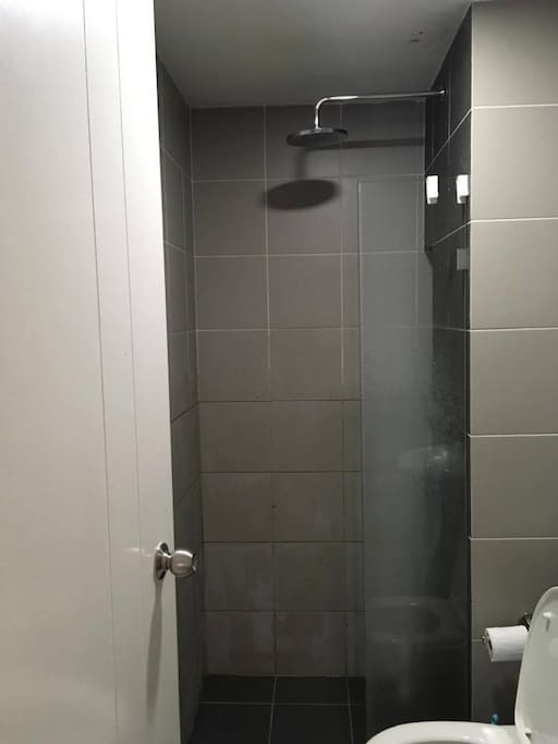 Rain Shower with Toilet