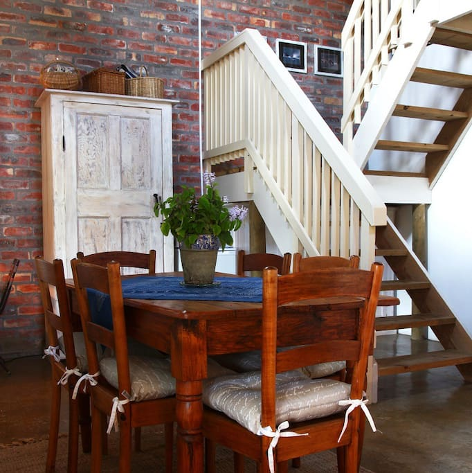 Dining area and stairs to loft room
