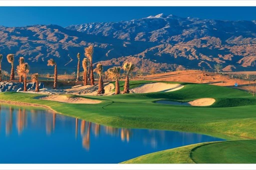 Adjacent golf course