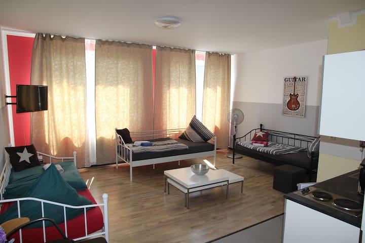 Ferien-/Monteur-Zentrum-Wohnung +W-LAN+Parkpl./12P