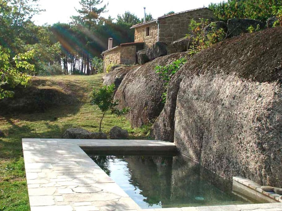 Pool with natural spring water