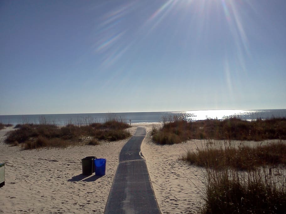 Folly Field Beach, a nice bike ride of about 1-1/2 miles.  Beach bikes are included. Picture taken in November.