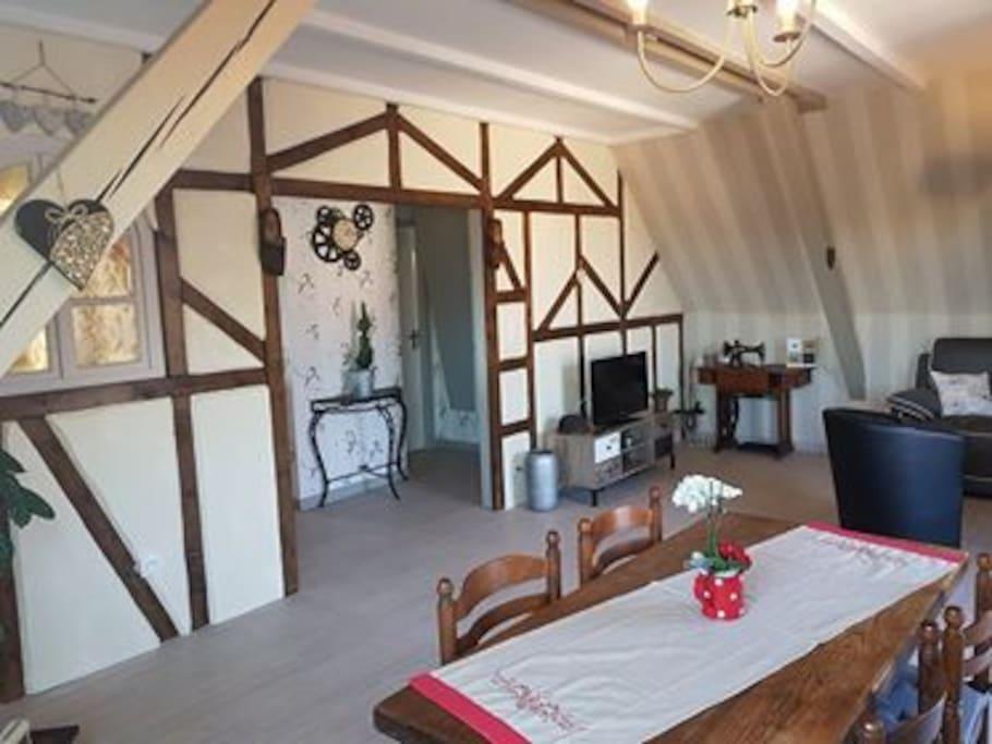 pièce a vivre de 30m² avec salon