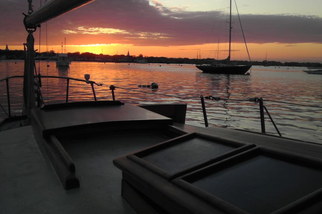 Enjoy the amazing sunsets from the cockpit