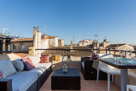 Lovely rooftop in historical center - Aix-en-Provence