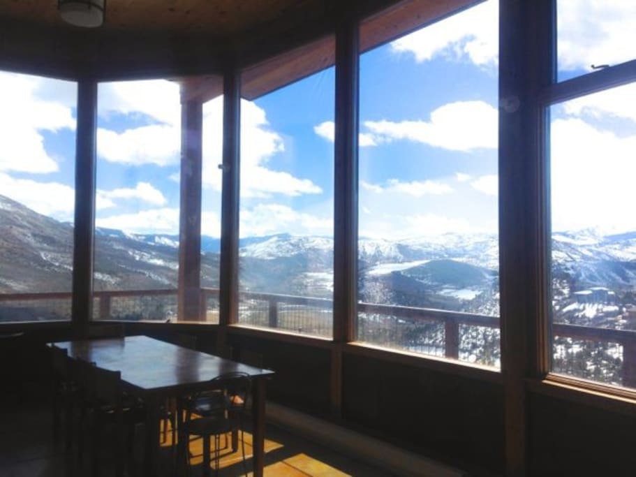 Panoramic views from the dining area
