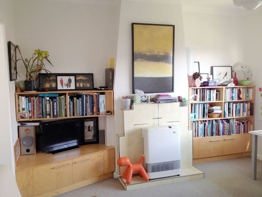 Art, books, TV (DVD, stereo, hard drive, Freeview), children's books and games.