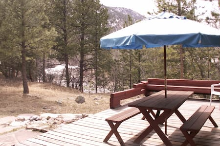 Poudre River Cabin Hideaway~ On The River! - Kisház