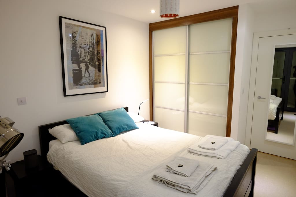 Your private bedroom with a huge wardrobe!