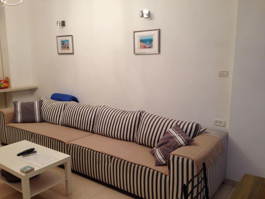 Long comfy sofa