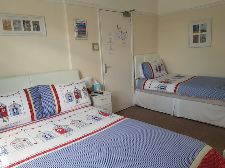 Room 2 - Family room with double and single beds
