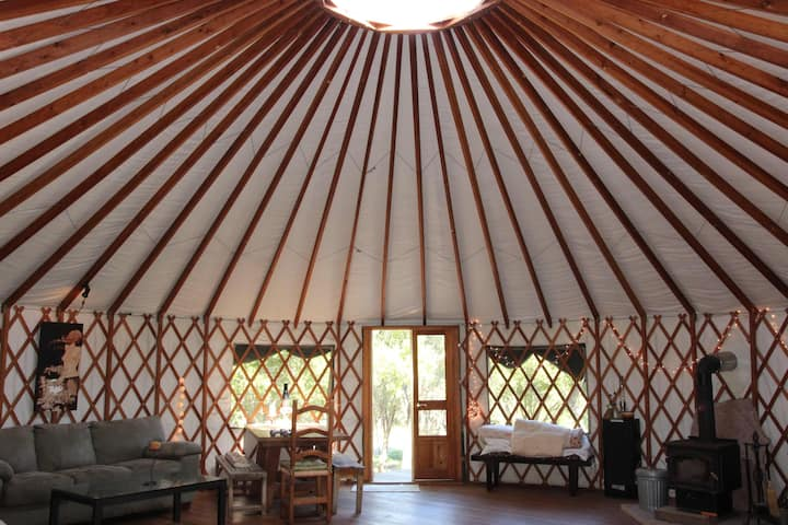 Stunning Exclusive Yurt On 11 Acres Yurts For Rent In Santa Barbara California United States Only at word panda dictionary. stunning exclusive yurt on 11 acres