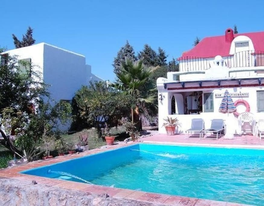 Los Cortijos de Zahora - the pool (7m x 4m) is available for guests during the summer months
