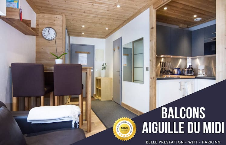 Balconies Aiguille du Midi ⭐ Parking ⭐ WIFI ⭐25 m2