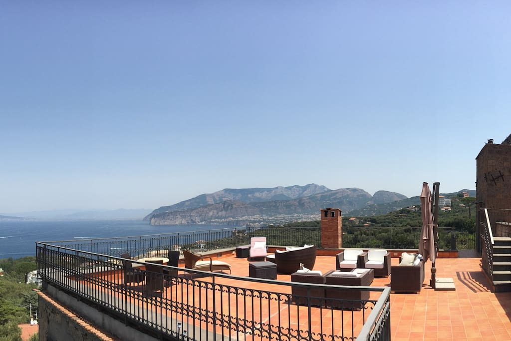 View from the private terrace.