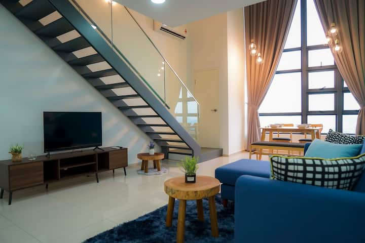 EC05#Ekocheras Modern Blue Duplex #MRT#现代蓝舒适复式单位